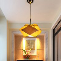 Bamboo Pendant Lamp Table Lamp Meal Chandelier Single Head Home Small Bedside Lamp Bedroom Chandelier Warm