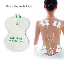 10pcs Tens Acupuncture Electrode Pads Silicone Slimming Body Massager Digital Therapy Machine Nerve Stimulator Tens Pads Patchs electrical stimulator full body relax muscle digital massager pulse tens acupuncture with therapy slipper 16 pcs electrode pads