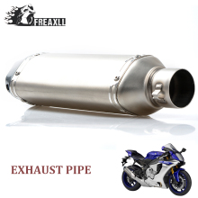 Universal muffler exhaust motorcycle pipe Exhaust Modify Muffler ATV dirt bike For Kawasaki versys 650 Z 800