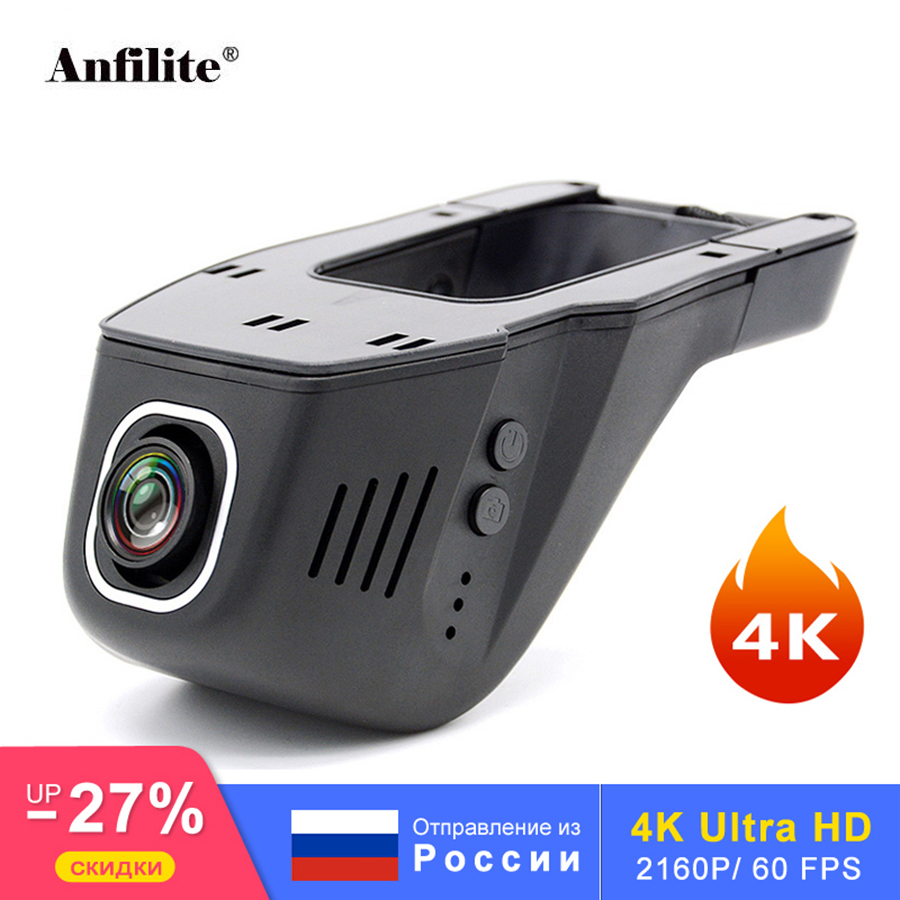 Anfilite 1080P 4K WiFi APP Car DVR Camera Novatek 96660 Universal Dashcam 2160P Video truck vedio