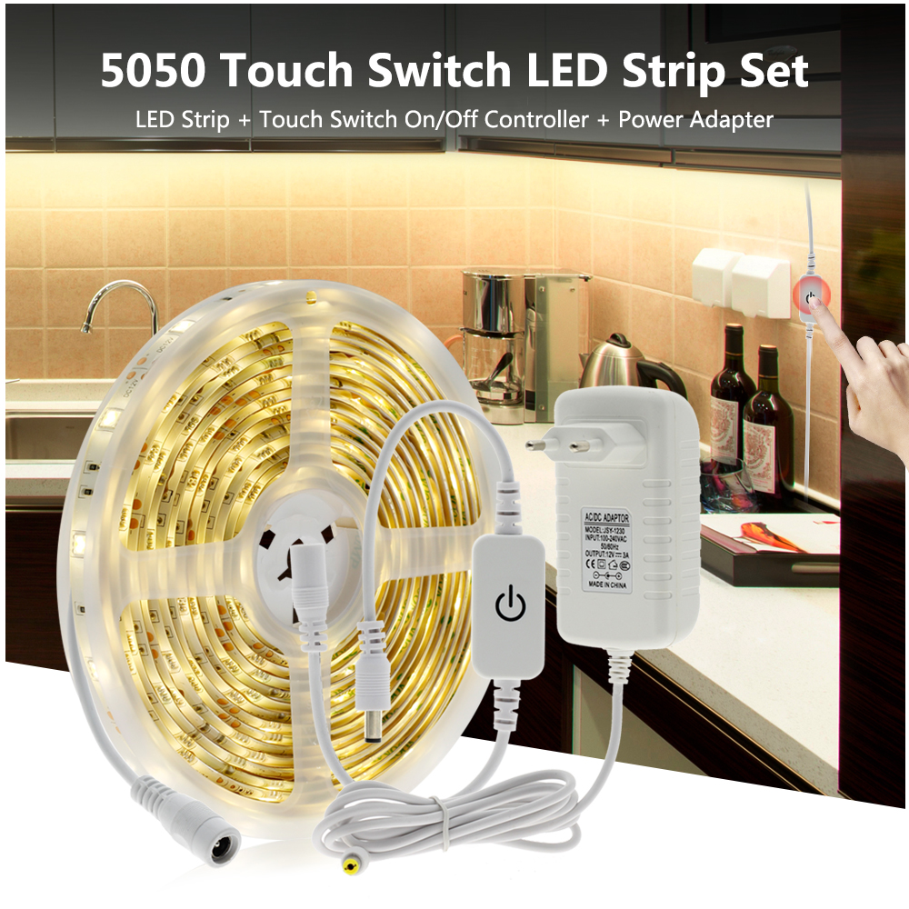 Night Light Touch Dimming LED Strip Light DIY Night Light for Bedroom Washroom Corridor Stairs Lighting in LED Night Lights from Lights Lighting