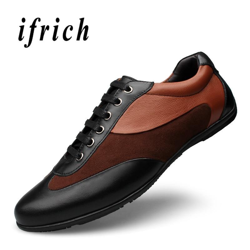 Designer jeunes décontracté pour hommes marque de luxe chaussures plates pour homme chaussures décontractées mode hommes chaussures en cuir véritable noir hommes baskets-in Chaussures décontractées homme from Chaussures    2
