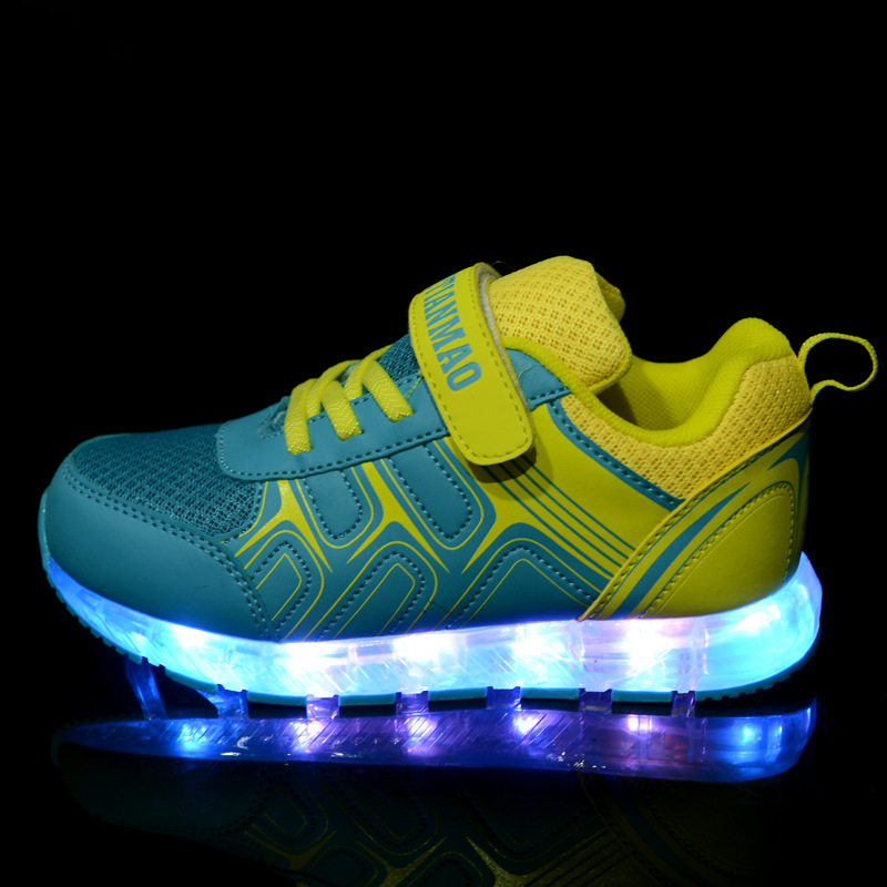 2016 Spring new arrival children led light shoes boys and girls breathable shoes kids USB charging flash colorful luminous shoes 2016 new arrival fashion kids shoes pu leather children shoes for boys