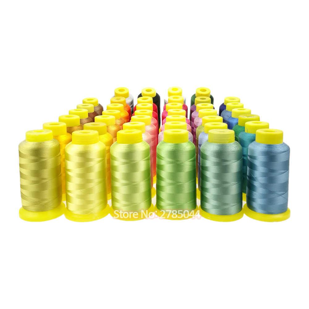 Sanbest 100% вискоза вышивка нить для компьютера швейная машина DIY Ручная работа 2200 метров низкая прочность Глянцевая нить TH00026