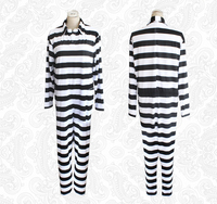 Prison school cosplay prison uniform striped jumpsuit