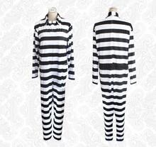 Prison school cosplay prison uniform striped jumpsuit prison pit book two