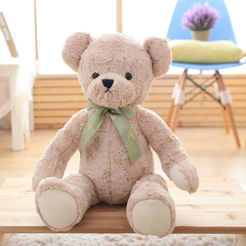 Nooer Kids Favorite 65cm Bow Tie Teddy Bear Plush Soft Toy Stuffed Animal Embrace Bear Doll Kids Children Gift Free Shipping cartoon movie teddy bear ted plush toys soft stuffed animal dolls classic toy 45cm 18 kids gift