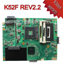 Original laptop motherboard for ASUS K52F X52F A52F P52F REV:2.2 HM55 PGA989 60-NXNMB1000-E04 mainboard