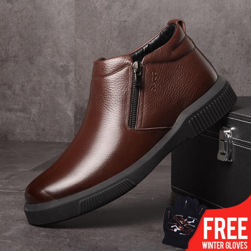 2018 Winter Men Boots Autumn Men Shoes Genuine Leather Ankle Boots for Man Footwear New Men