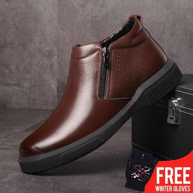 2018 Winter Männer Stiefel Herbst Männer Schuhe Aus Echtem Leder Stiefeletten für Mann Schuhe Neue Männer Casual Mode Atmungsaktive Schuhe