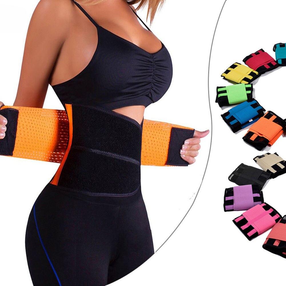 YJSFG HOUSE Women Mesh Waist Training Power Belt Sportswear Gym Fitness Corset Body Shaper 1pc Waist Cincher Slimming