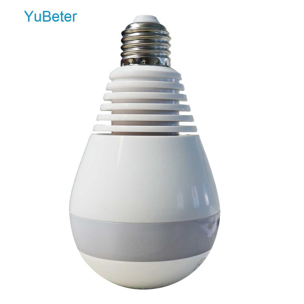 YuBeter HD 960 p 360 панорамный Wi Fi камера лампа лампочки «рыбий глаз» безопасность s беспроводной наблюдения инфракрасная Ночь Версия