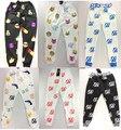 2014 Más Reciente 100 Emoji Joggers Pantalones Blanco/Negro/Azul/Rojo Para Los Hombres/Boy Pantalones de Chándal Basculador Pantalones Harén Traje de dibujos animados