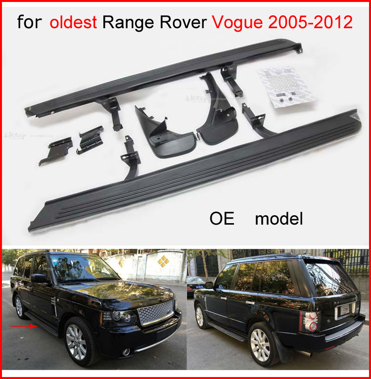 for Range Rover(Vogue) 2006-2012 side step foot bar running boards,superior quality,OE model,come with mud guard,great discoun ...