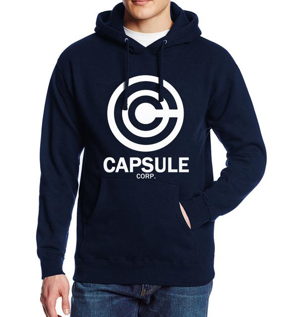 Capsule Corp Logo Hoodie (Dark Blue)