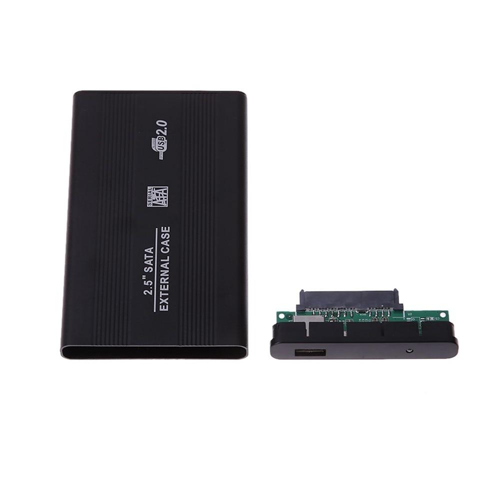 Portable External Aluminum Alloy Case USB2.0 Hard Drive HDD Enclosure Mobile Hard Disk Box Laptop SATA 2.5