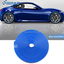 smRKE 8M Car Wheel Hub Rim Edge Protector Ring Tire Strip Guard Rubber Stickers On Cars Blue Styling