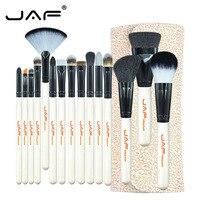 JAF Beauty Makeup Tool Set 15 Pcs Set Makeup Brushes Powder Foundation Eyeshadow Brush Synthetic Hair