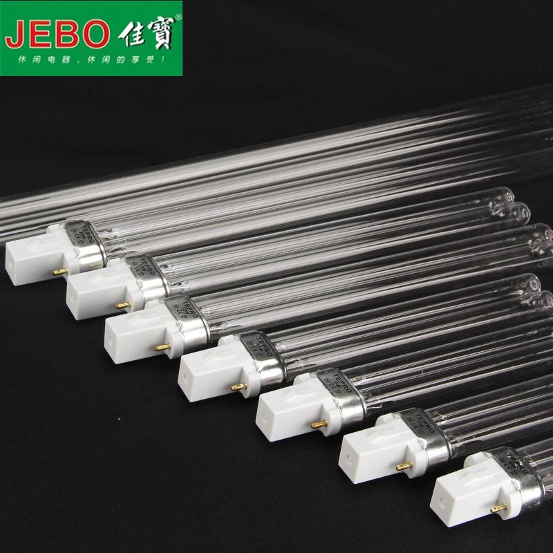 Replace JEBO UV Sterilizer Light Tube Watts 2-pin G23 Base Linear Twin Tube UV-C Germicidal Ultraviolet Light Bulb