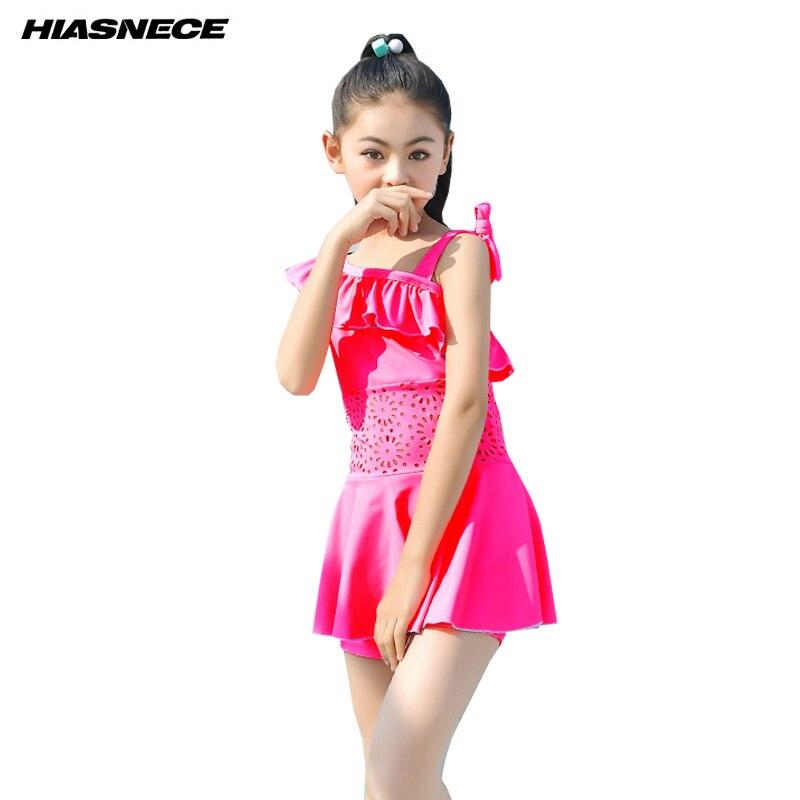 Girl S Swimsuits One Piece Dress Off Shoulder Flouncing