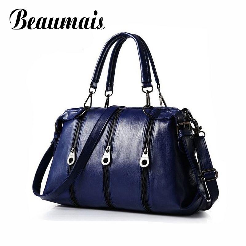 Beaumais New Brand Design 2016 Women font b Handbag b font Quality Leather Shoulder Bag Large