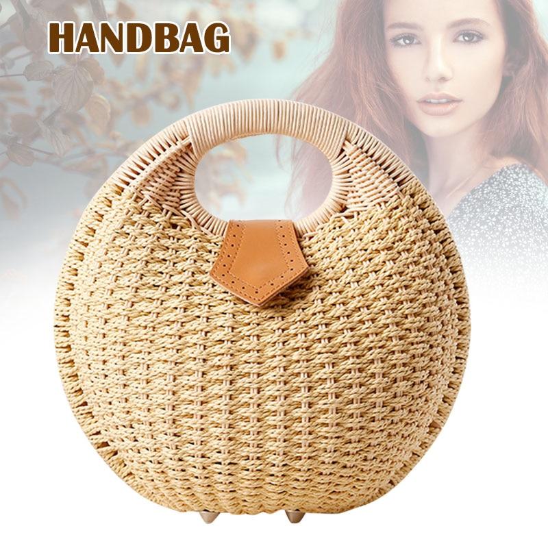Handbag for Summer Beach Travel Hiking Mobile-Phone-Keys Xr-Hot Rattan Fashion Women