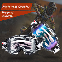 Newest Top Quality Motocross Goggles Anti Distortion Dust Proof Motorcycle Goggles Ski Goggles Windproof Glasses