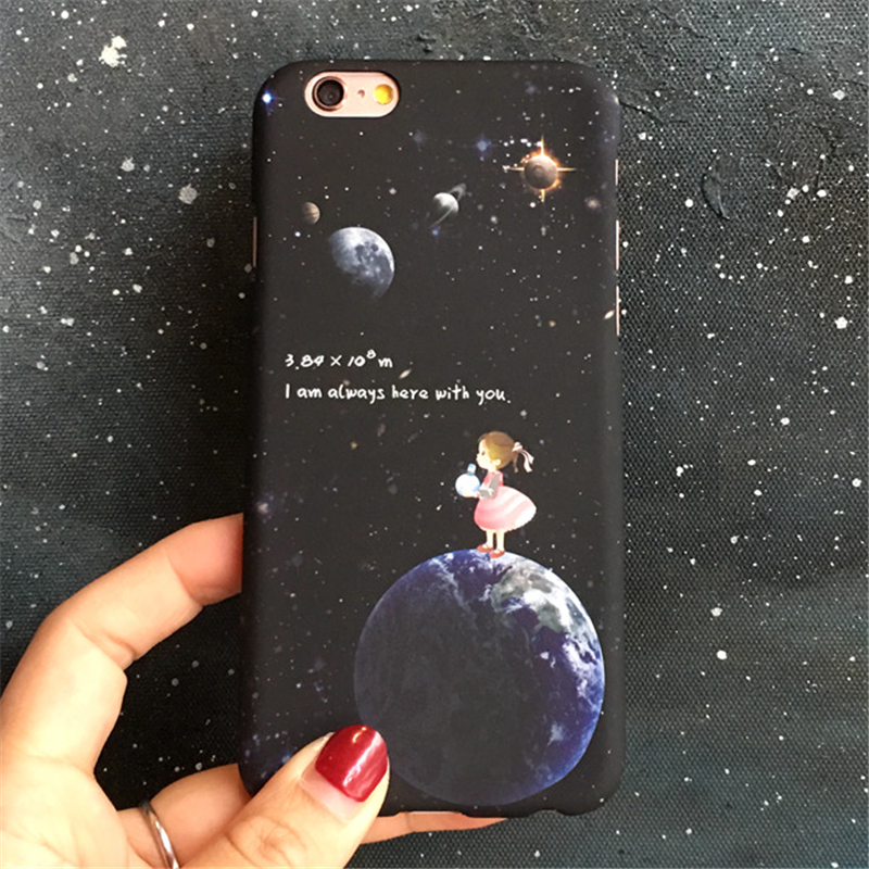 Stars And The Moon Cute Girl Phone Cases For Apple Iphone 5 5s 5se 6 6 S 6 6s Plus 7 7 Plus Pc Plastic Couple Phone Shell Cover Cellphones & Telecommunications