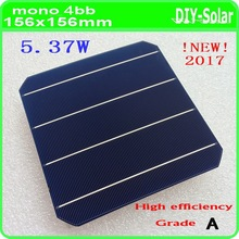 A grade 156mm Mono Monocrystalline solar cell 500pcs 21.6% high efficiency 5.37W/pc monocrystalline solar panel cell 6×6