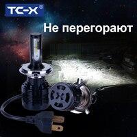 7200Lm TC-X 2 Pieces הנורה H7 Led פנסי H1 H8/H11 HB3/9005 HB4/9006 H4 H27/880 ערפל מנורת רכב פנס לבן 12 V מכוניות