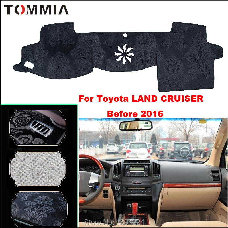 Tommia Car Dashboard Cover Mat Light Avoid Pad Photophobism Anti slip protection Mat For Toyota Land Cruiser Before 2016 in Anti Slip Mat from Automobiles Motorcycles