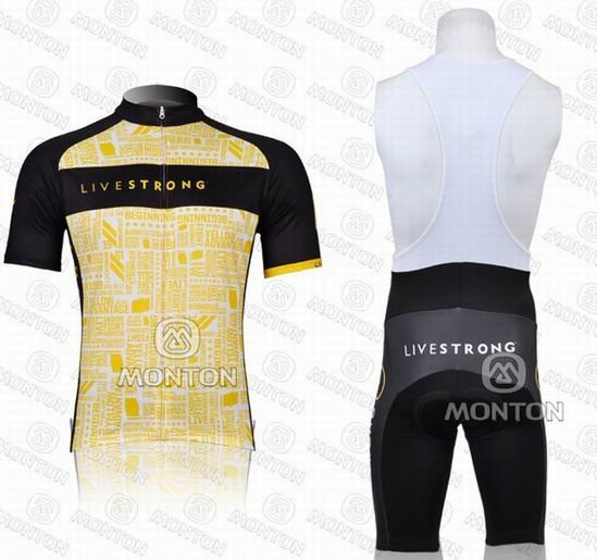 Free shipping!Hot  Livestrong 2012 team short sleeve cycling jersey and bib shorts/bike wear/cycle clothes((accept customize)