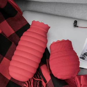 Image 2 - Youpin Jodan Judy 313/620ml Hot Water Bag Microwave Heating Silicone Bottle Winter Heater With Knitted Cover