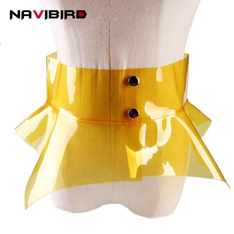2018 New Clear   Belts   For Women Plastic Pvc Waistband Woman Decoration Simple Wide Irregular Corset   Belt   All-Match Fashion Riem