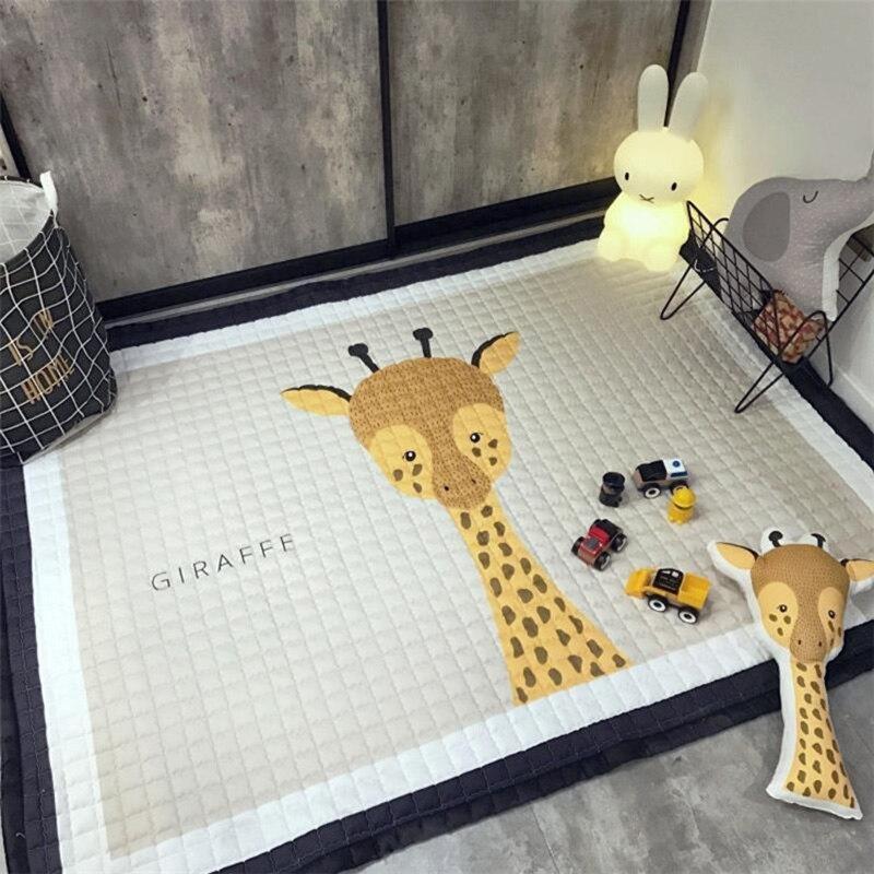 Escalade enfants tapis de jeu bande dessinée plancher salon couverture épaissi anti-dérapant tapis multi-fonction tapis rampant 145X195 cm #625