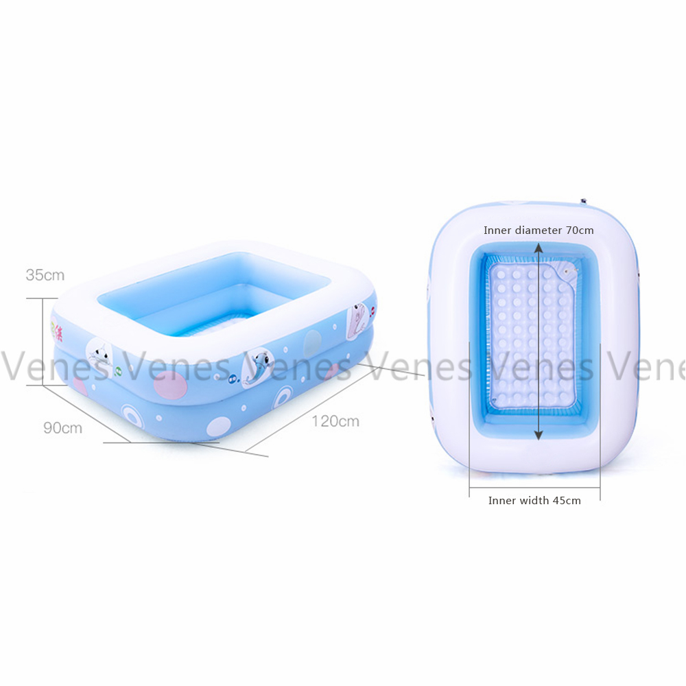 Luxurious package of Baby pool baby swimming pool portable childrens rectangle shape Luxurious of kids swimming pool