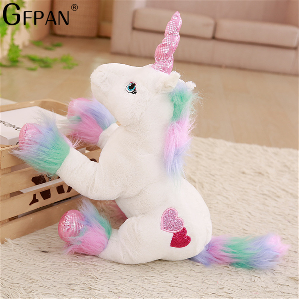 Online Shop  1PC 50*40cm White Unicorn Plush Toys low Price Stuffed Animal Soft Doll Home Decor Children Photo Props Birthday Gift For Kids | Aliexpress Mobile