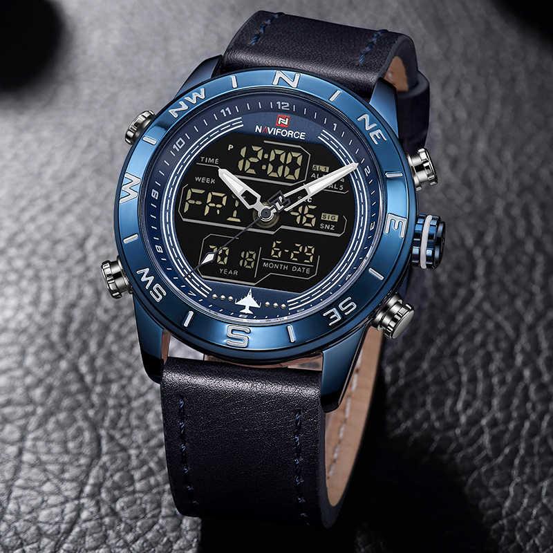 2019 мужские часы Топ бренд NAVIFORCE мужские модные спортивные часы мужские водонепроницаемые кварцевые цифровые светодиодные часы мужские военные наручные часы