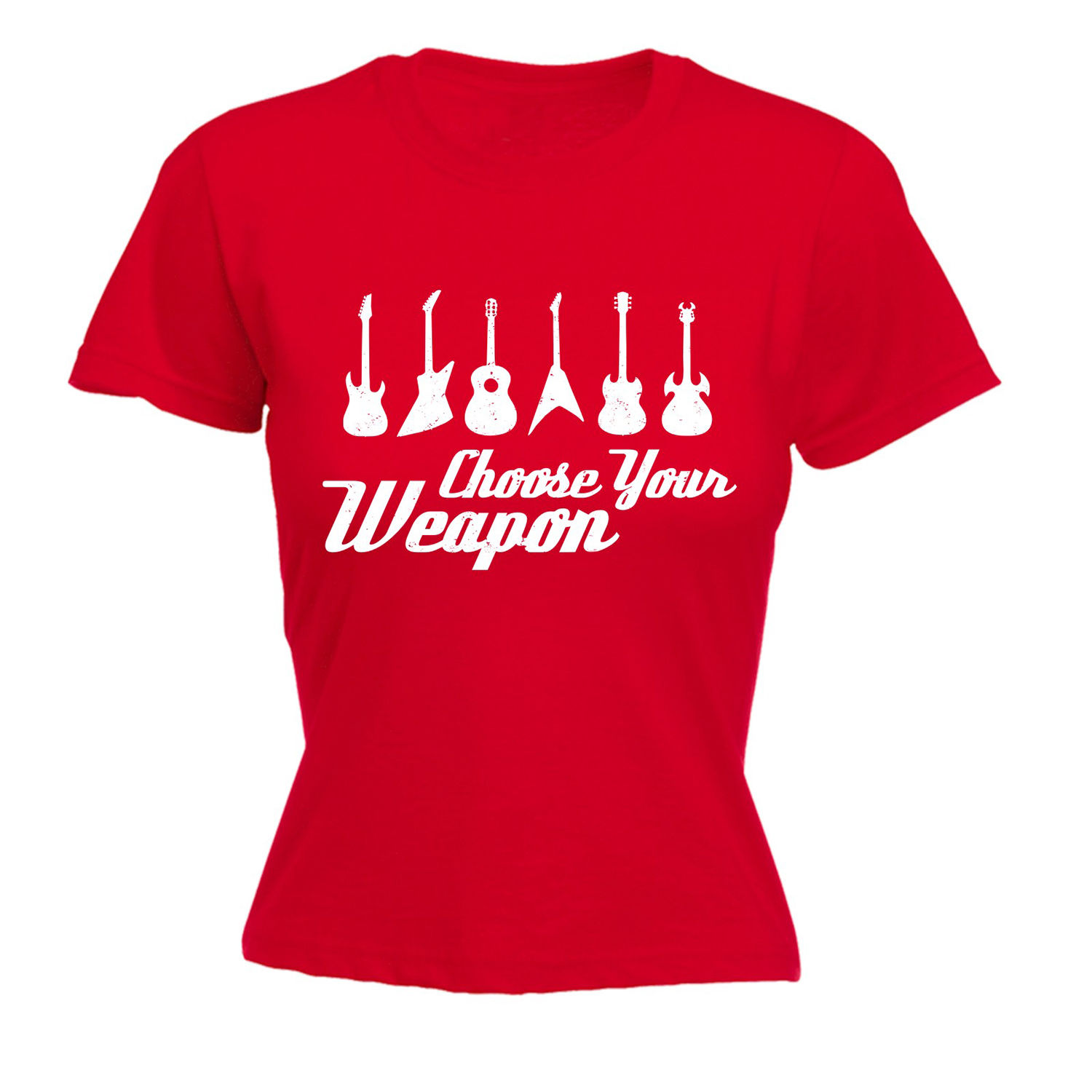 711f55ed0 Choose Your Weapon Guitar WOMEN T SHIRT Acoustic Electronic Funny Birthday  Gift Design Tops Hot Salestee T Shirts Top Tee-in T-Shirts from Women's  Clothing ...