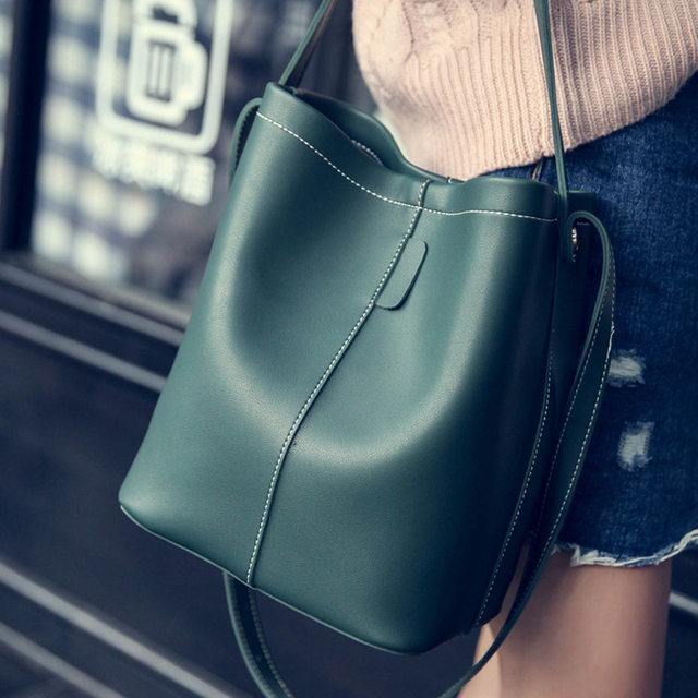 2016 New Winter Bag Composite Bucket Bag Korean Fashion Shoulder Bag Handbag Bag With Large Capacity