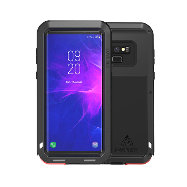 detailed look 420a9 2c1af US $31.11 |LOVE MEI Armor Case for Samsung Galaxy Note 9 Powerful  Shockproof Dropproof Metal Hard Cover for Note9 Samsung Heavy Duty Case-in  Fitted ...