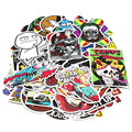 NEW 100 pcs Random Car Sticker Laptop Travel Case Funny Sticker Bomb Motorcycle Bike Decal Car Stickers Decor Doodle Waterproof