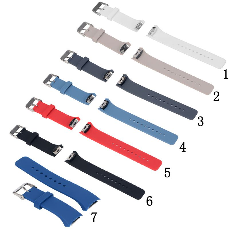 Watchband For Smart Samsung Gear S2 Watch Band Stylish Silicone Replacement Strap SM-R720 SSGS2SS Sport Silicone Watchbands luxury silicone watch replacement band strap for samsung gear fit 2 sm r360 wristband 100