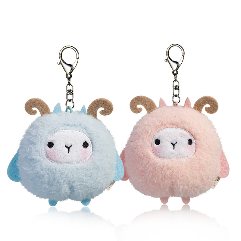 10cm Cute Sheep Plush Toys Kawaii Bag Backpack Pendant Keychain Stuffed Animals Kids Toys for Children Birthday Gift Doll 6pcs plants vs zombies plush toys 30cm plush game toy for children birthday gift