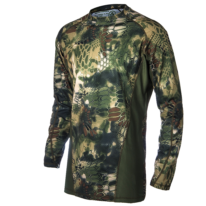 Military Camouflage Hunting Clothes Airsoft T shirt Outdoor Sports Camping Hiking Survival Shirt Tactical Suit Paintball