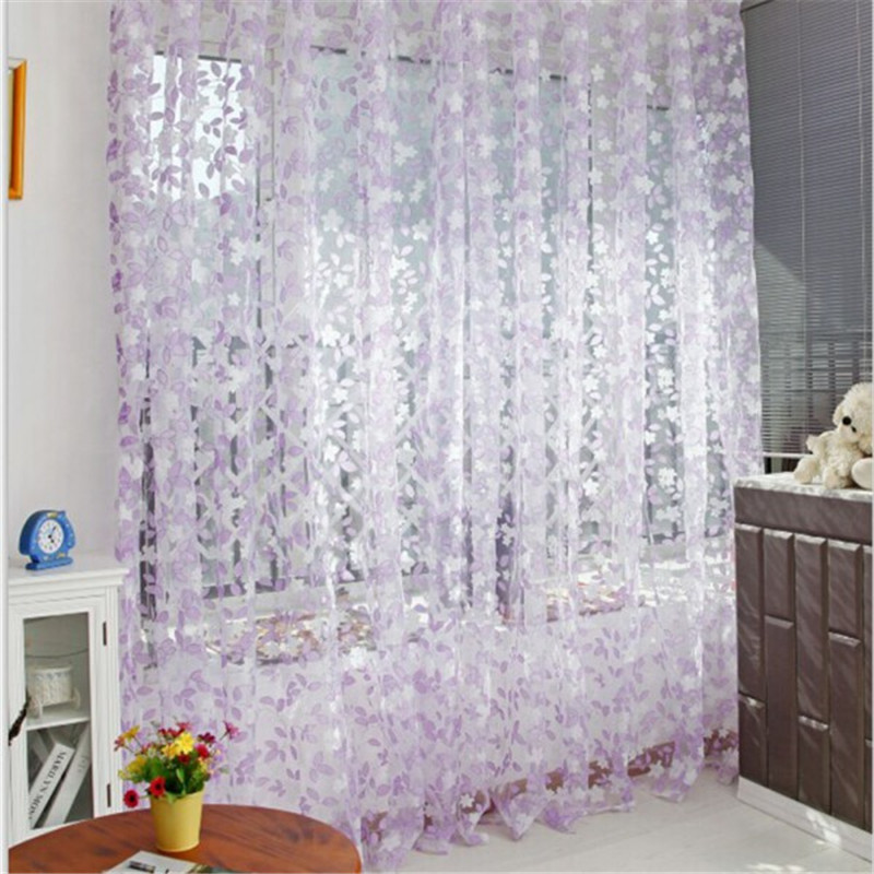 Romantic Stylish Tulle Pastoral Window Screens Door Balcony Curtain Panel Sheer Scarfs AA