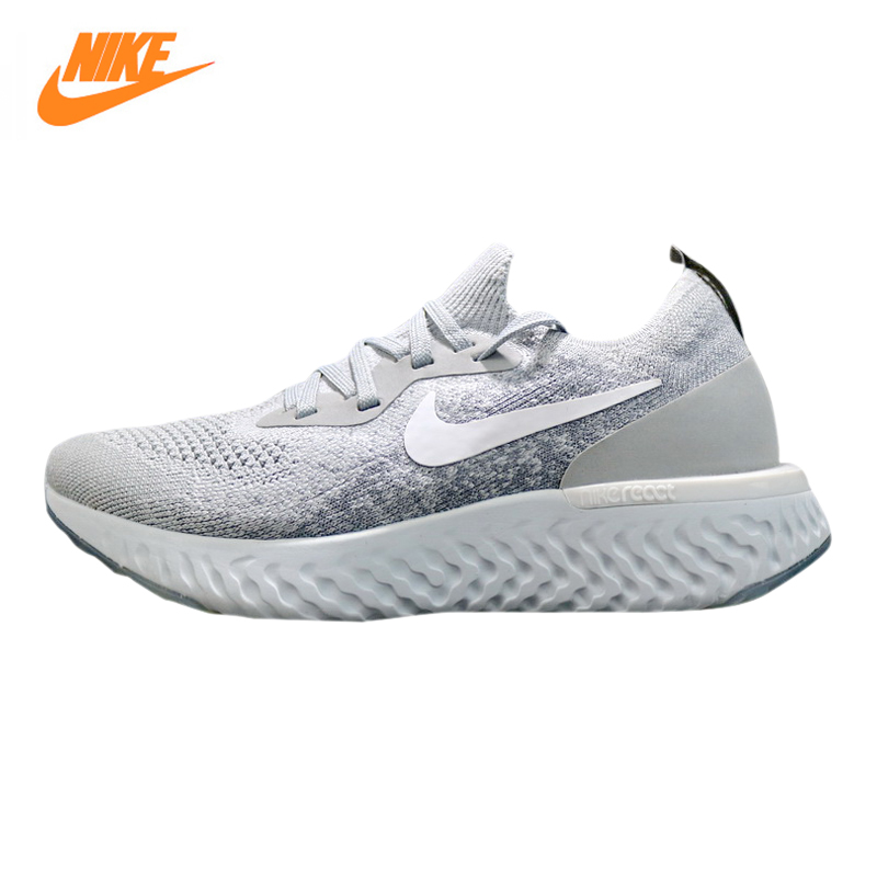 EPIC REACTFLYKNIT for Men and Women Running Shoes,Original Sports Outdoor Sneakers Shoes, Gray, Breathable AQ0070 002