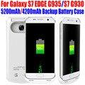 50 pçs/lote fedex livre 5200 mah 4200 mah power bank externo caixa de bateria de backup para samsung galaxy s7 edge g935 s7 g930 s715