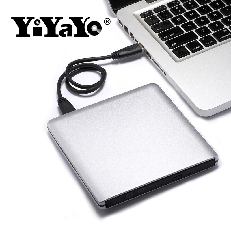 цена на YiYaYo 3D Bluray Drive BD-RE Burner USB 3.0 External DVD-RW CD/DVD/BD-ROM Player portable Superdrive for Laptop for Macbook PC