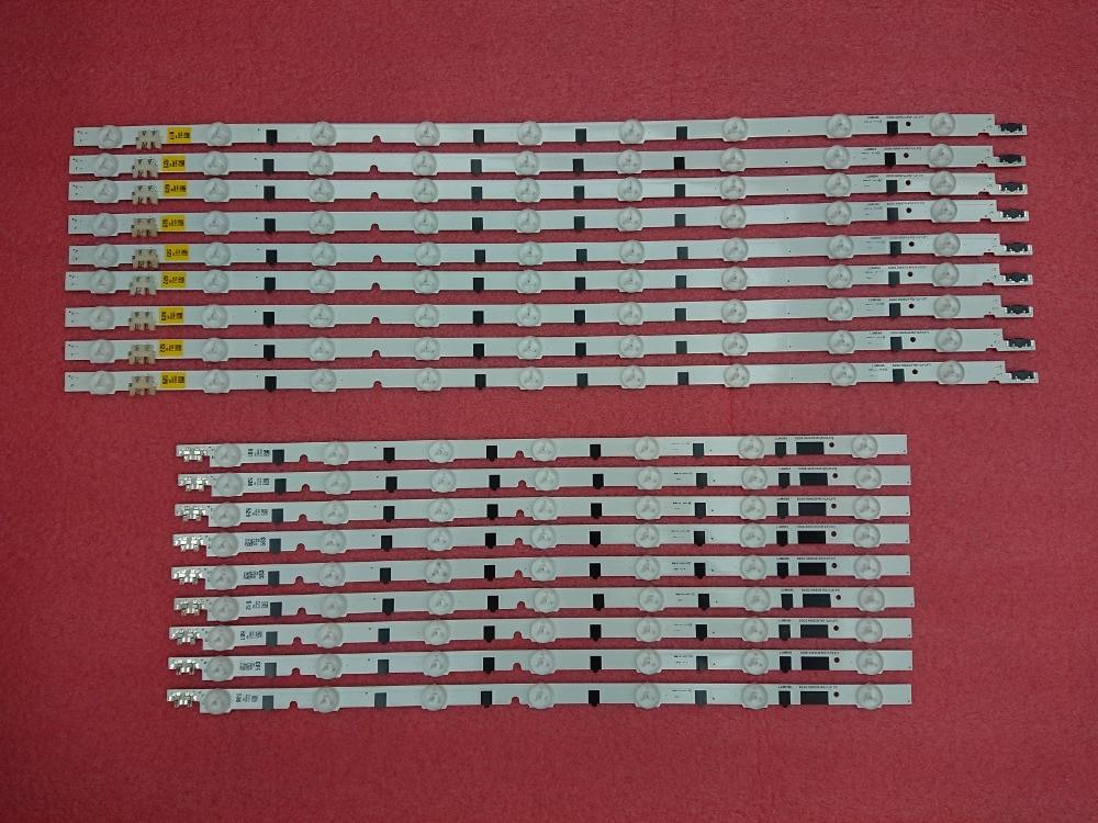 (New Kit)18 PCS/set LED backlight strip for Samsung TV UN50F6400AF 2013SVS50F R 7 L9 D2GE 500SCB R3 D2GE 500SCA R3 T500HVF02.1-in LED Strips from Lights & Lighting